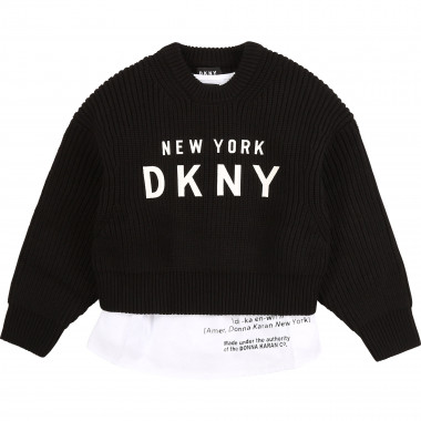 Jumper and vest top with logo DKNY for GIRL