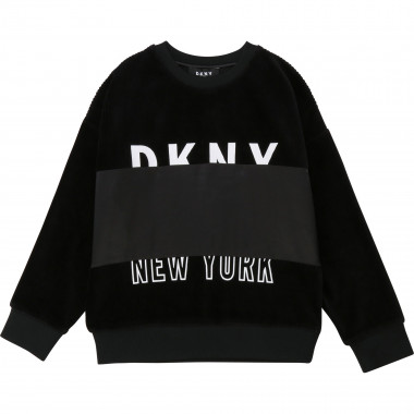Mixed-material sweatshirt DKNY for GIRL