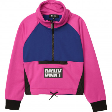 Two-tone fleece sweatshirt DKNY for GIRL