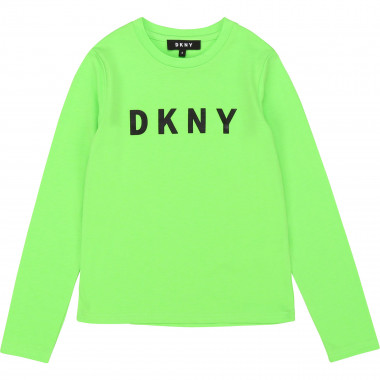 Jersey T-shirt with print DKNY for GIRL