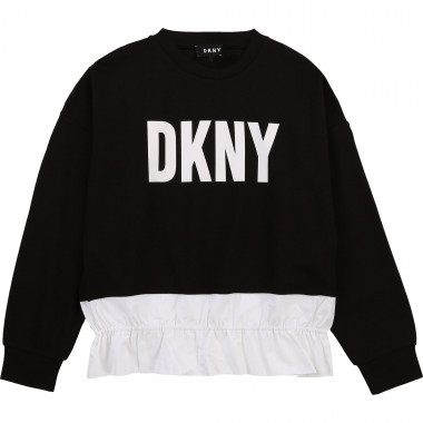 Sweatshirt with poplin frill DKNY for GIRL