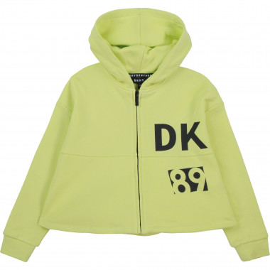 Hooded fleece cardigan DKNY for GIRL
