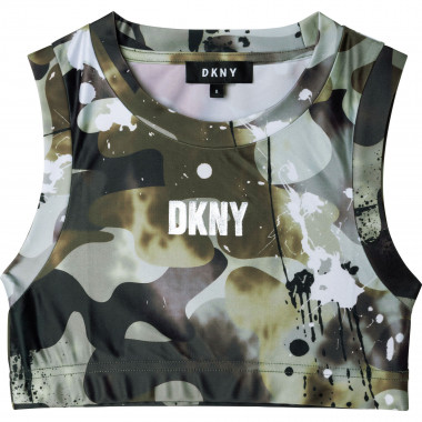 Camouflage print bra top DKNY for GIRL