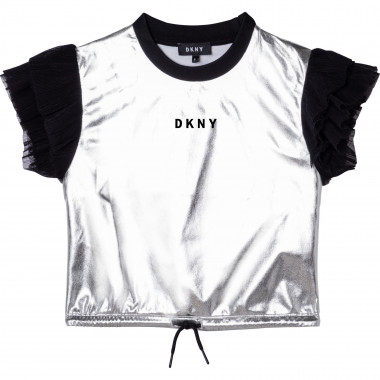 Silvery knit top DKNY for GIRL