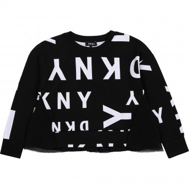 Printed sweatshirt with tulle DKNY for GIRL