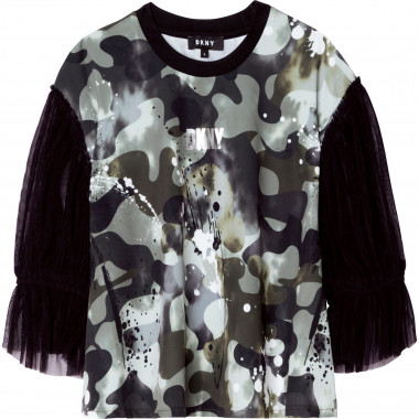 Camouflage print blouse DKNY for GIRL