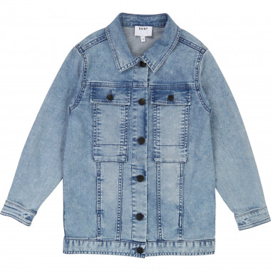 Long denim jacket DKNY for GIRL