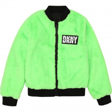 Dual-material reversible jacket DKNY for GIRL