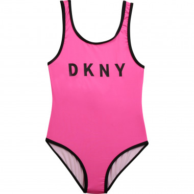 1-piece logo bathing suit DKNY for GIRL