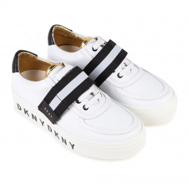 Leather trainers with logo DKNY for GIRL