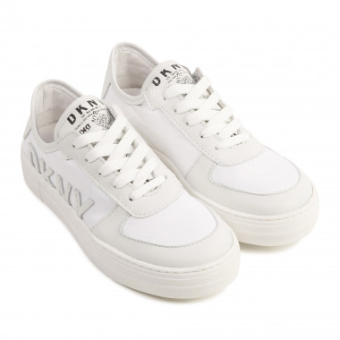 Lace-up leather trainers. DKNY for GIRL