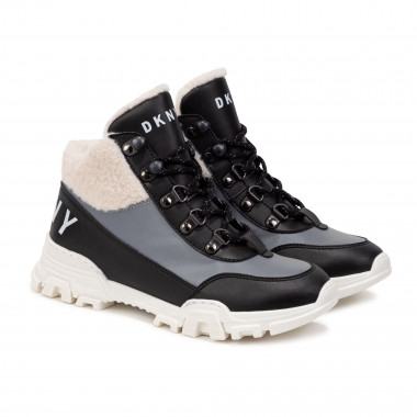 High-top trainers with sherpa trim DKNY for GIRL