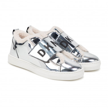 Patent trainers with hook-and-loop fastening DKNY for GIRL