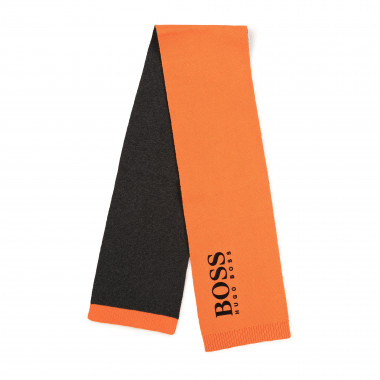Cotton scarf with logo BOSS for BOY