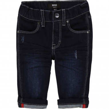 Adjustable-waisted slim jeans BOSS for BOY