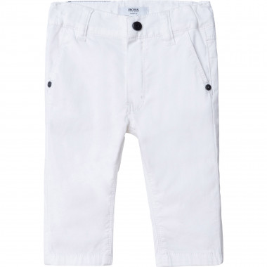 Cotton twill chinos BOSS for BOY