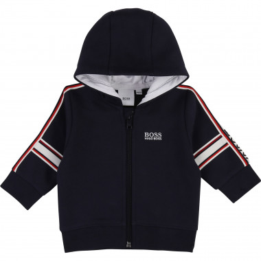 Fleece hoody with zip BOSS for BOY