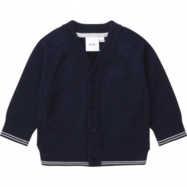 Striped cotton tricot cardigan BOSS for BOY