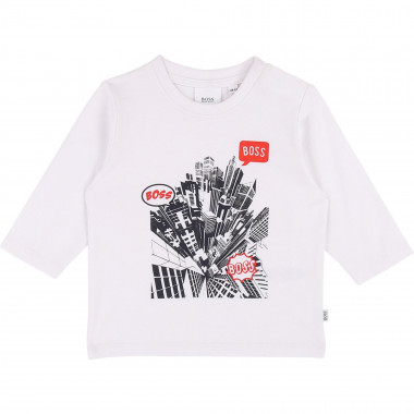 Cotton printed T-shirt BOSS for BOY
