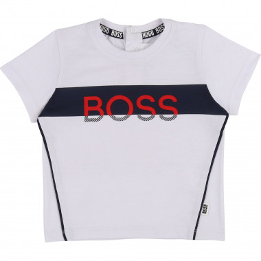 Printed T-shirt with trim BOSS for BOY