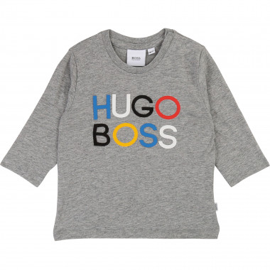 Embroidered cotton T-shirt BOSS for BOY