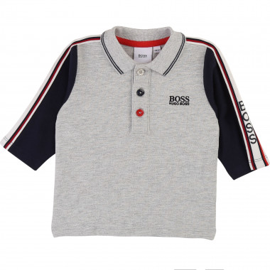 Striped cotton piqué polo BOSS for BOY