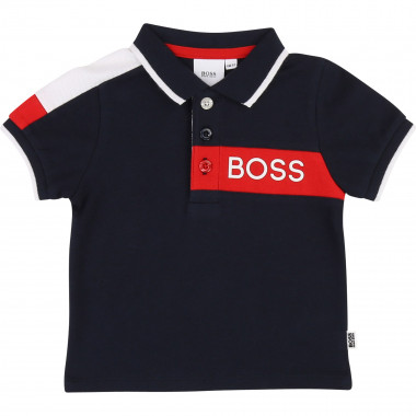 Printed short-sleeved polo BOSS for BOY