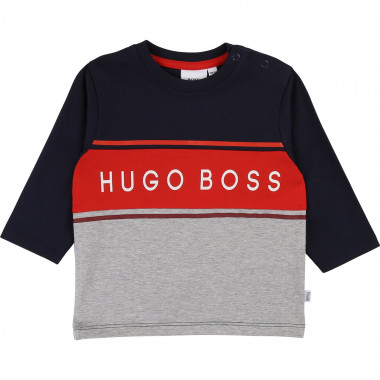 Colour block cotton T-shirt BOSS for BOY