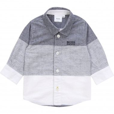 Striped cotton and linen shirt BOSS for BOY