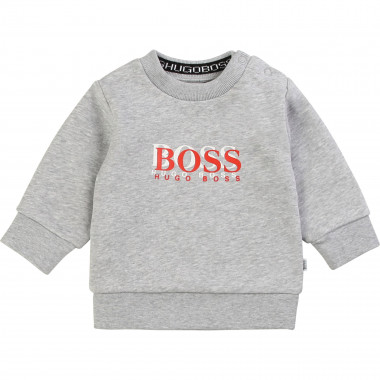 Fleece sweatshirt with print BOSS for BOY