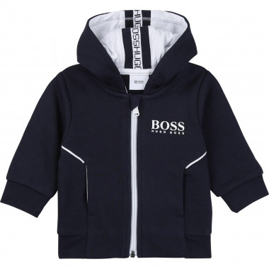 Fleece jogging jacket BOSS for BOY