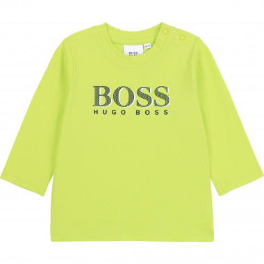 Cotton T-shirt with logo BOSS for BOY