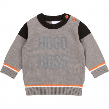 Combed cotton jumper BOSS for BOY