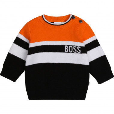 Cotton and wool blend jumper BOSS for BOY
