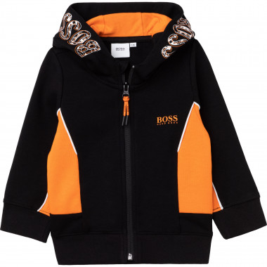 Hooded jogging cardigan BOSS for BOY