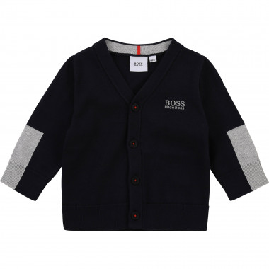 Knitted cardigan 100% cotton BOSS for BOY