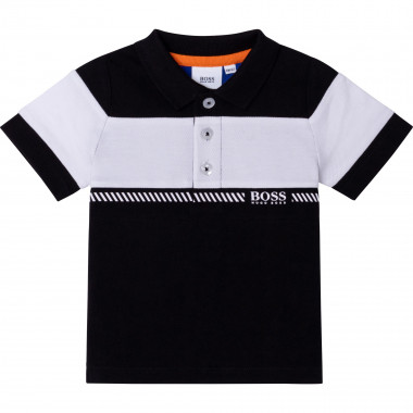 Short-sleeved cotton polo BOSS for BOY