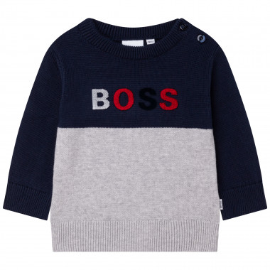 Combed cotton knit jumper BOSS for BOY