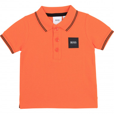 Cotton piqué polo shirt BOSS for BOY
