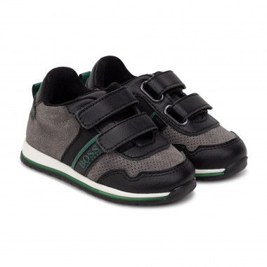 Leather low-top trainers BOSS for BOY