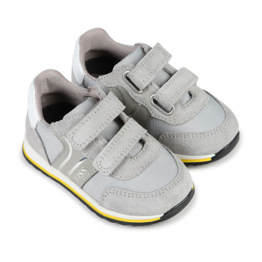 Striped Velcro trainers BOSS for BOY
