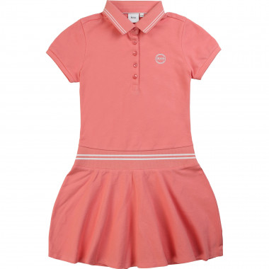 Cotton piqué polo dress BOSS for GIRL