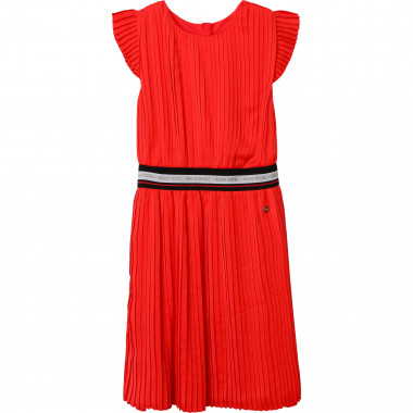 Pleated satin dress BOSS for GIRL