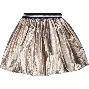 Gold-coloured polyester skirt BOSS for GIRL