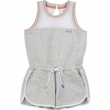 Short playsuit with mesh BOSS for GIRL