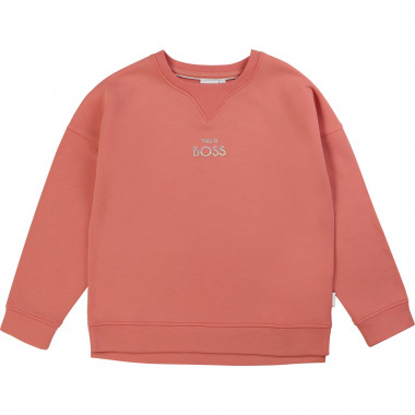 Sweatshirt with novelty neckline BOSS for GIRL