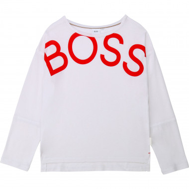 Cotton and lyocell T-shirt BOSS for GIRL