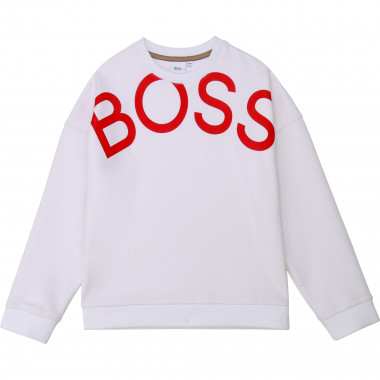 Round-neck sweatshirt with print BOSS for GIRL