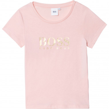 Cotton and modal T-shirt BOSS for GIRL