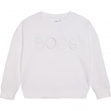 Embroidered logo sweatshirt BOSS for GIRL